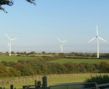 First wind turbines in devon