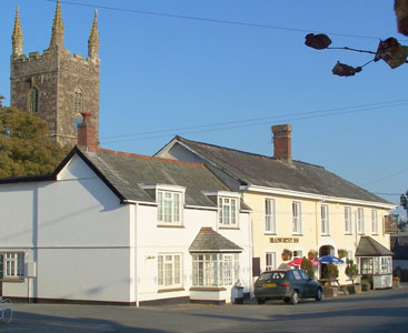 Bradworthy Pub and Church