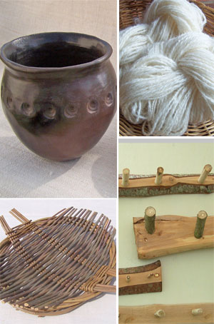 Image of  four different crafts to sample on our Country Craft Taster Weekend