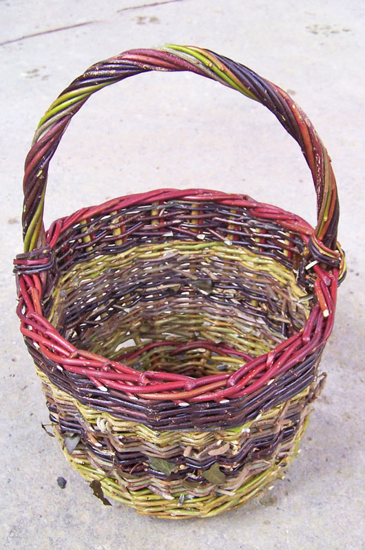Image of s Blackberry Basket made from willow and hedgerow materials